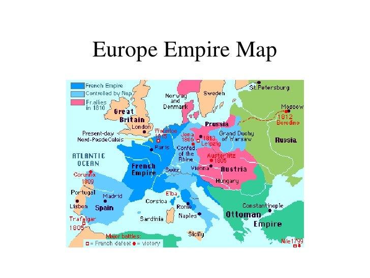 Map Europe 1812 Casami