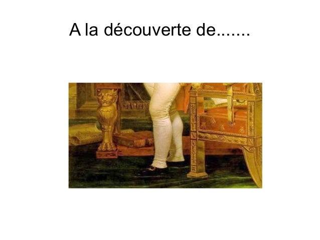 A la découverte de.......