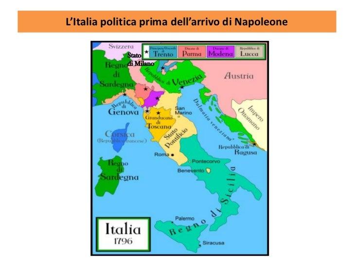 Cartina Italia 1810.Napoleone