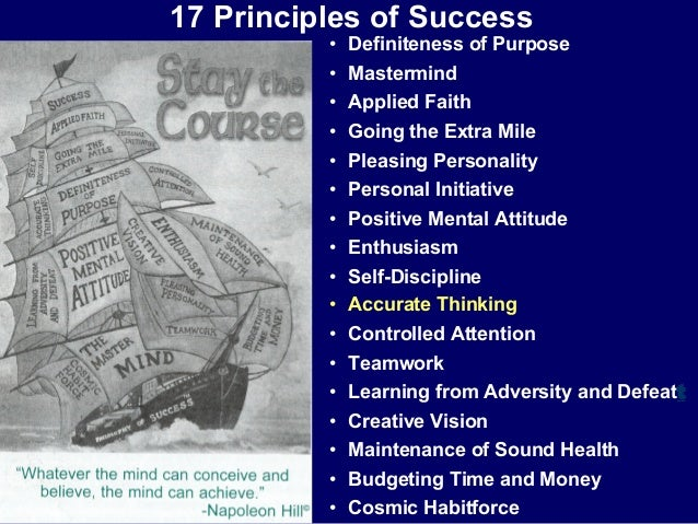 21 Rules Of Success: Napoleon Hill Science Of Success