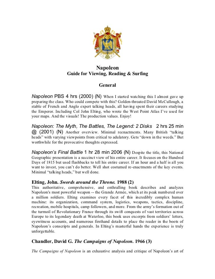 Napoleon                     Guide for Viewing, Reading & Surfing                                        GeneralNapoleon P...