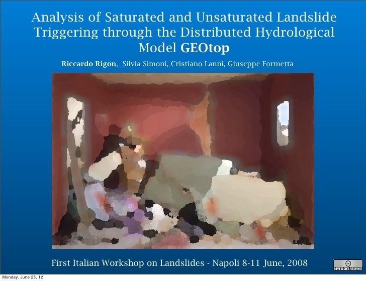 Analysis of Saturated and Unsaturated Landslide             Triggering through the Distributed Hydrological               ...