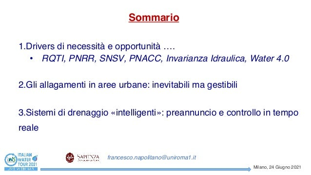 La fognatura intelligente Slide 2