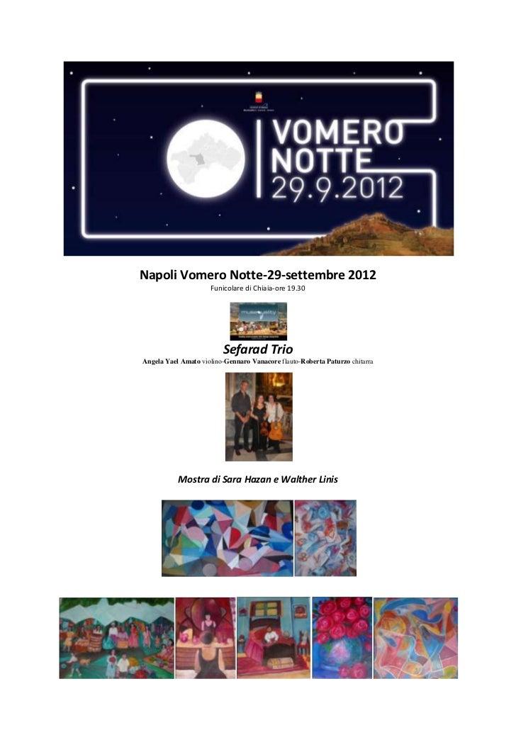 Napoli Vomero Notte-29-settembre 2012                     Funicolare di Chiaia-ore 19.30                         Sefarad T...