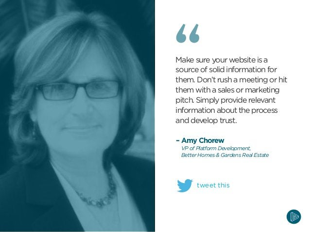 Make sure your website is a source of solid information for them. Don't rush a meeting or hit them with a sales or marketi...