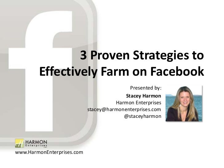 3 Proven Strategies to                Effectively Farm on Facebook                                                Presente...