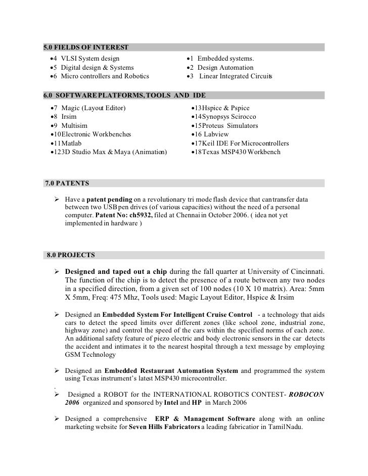100+ Resume For Embedded Engineer Fresher - Software ...