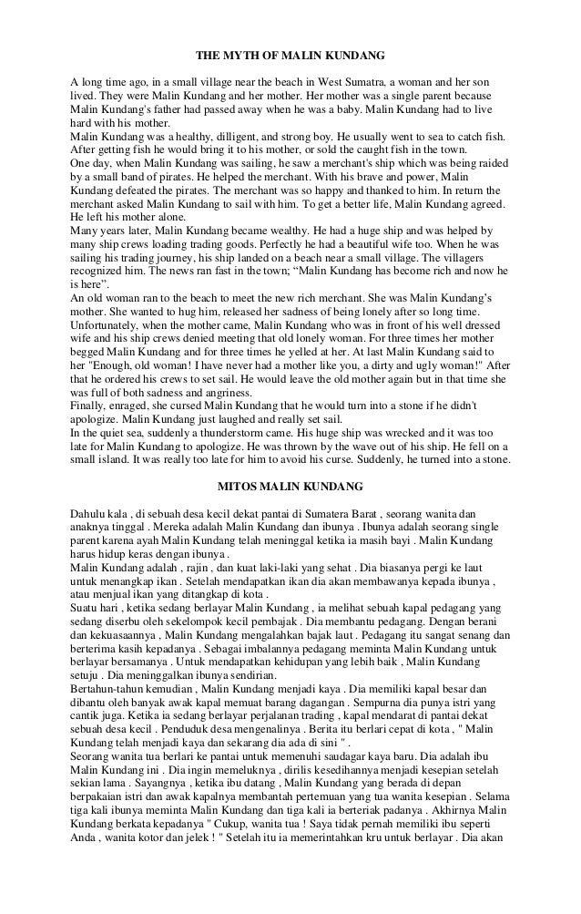 Naskah Drama Sangkuriang Dalam Bahasa Inggris Singkat Brad Erva