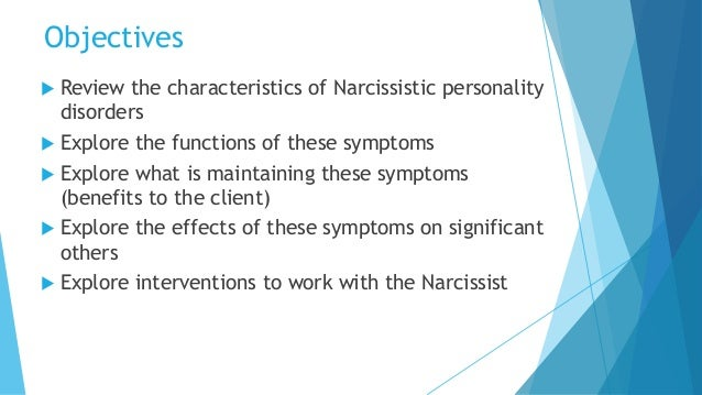 working with narcissistic personality disorder