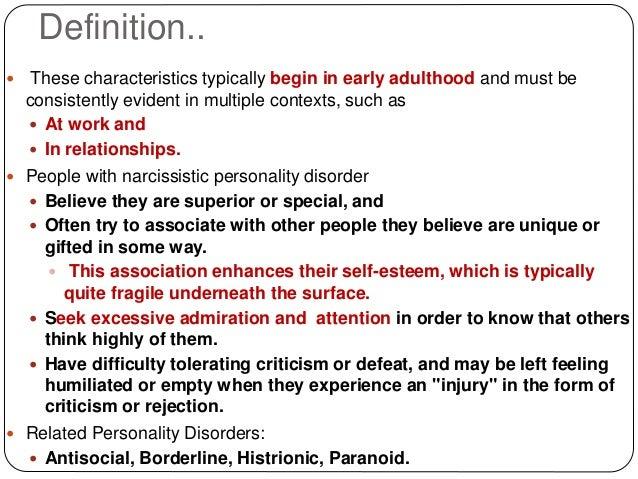 define a narcissistic personality