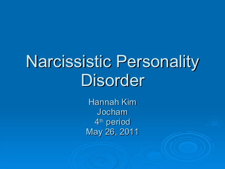 Valium narcissistic personality disorder - Narcissistic personality