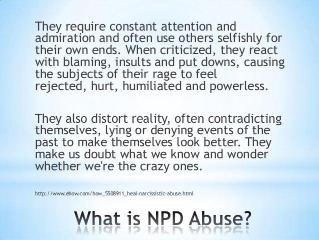 Abusive narcissistic personality disorder
