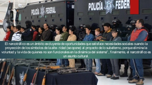 """Narcocultura """"…narcoculturatienesu origen en laacepción """"narcotráfico"""", término con el queseconoceal tráfico dedrogas. Exi..."""