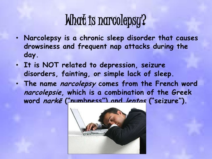 a study of narcolepsy a chronic sleeping disorder