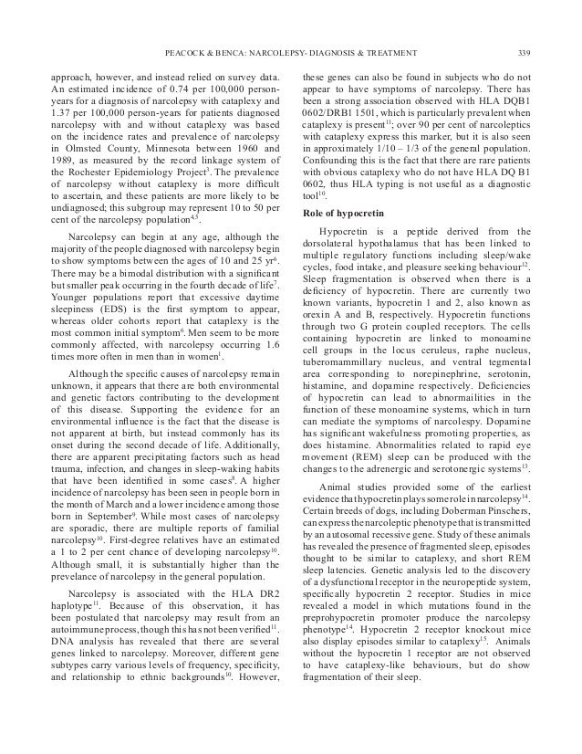 The neurobiological basis of narcolepsy | Nature Reviews ...