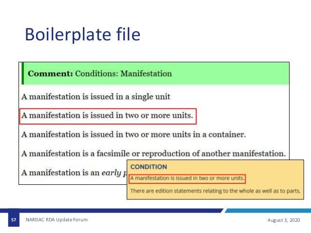 Boilerplate file August 3, 2020NARDAC RDA Update Forum57