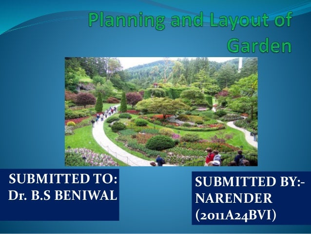 Planning And Layout Of Garden Ppt