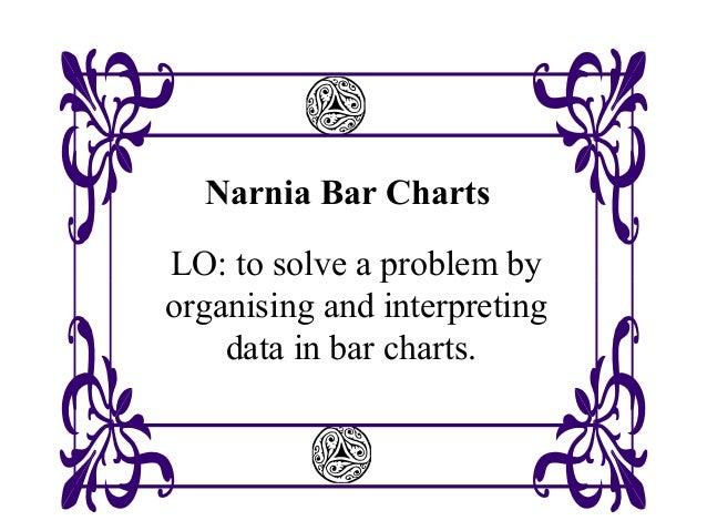 Narnia Bar ChartsLO: to solve a problem byorganising and interpretingdata in bar charts.