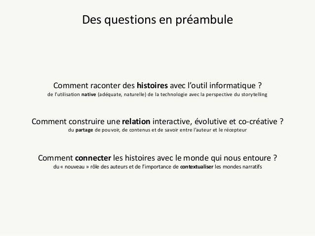Narration combinatoire Slide 2