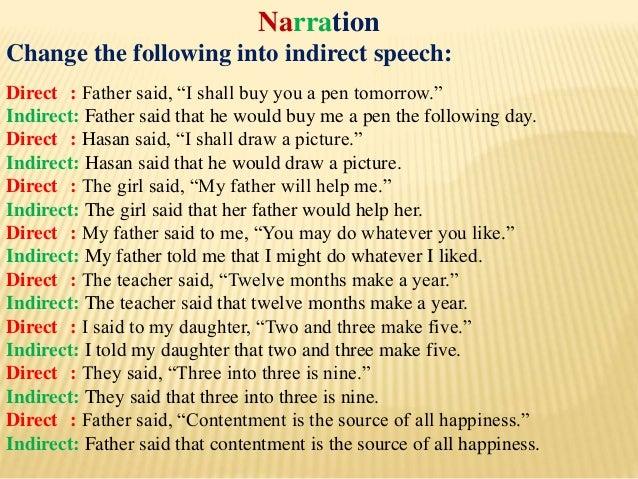 English Narration Class Vi X He said, i was working hard all the time. 12. english narration class vi x