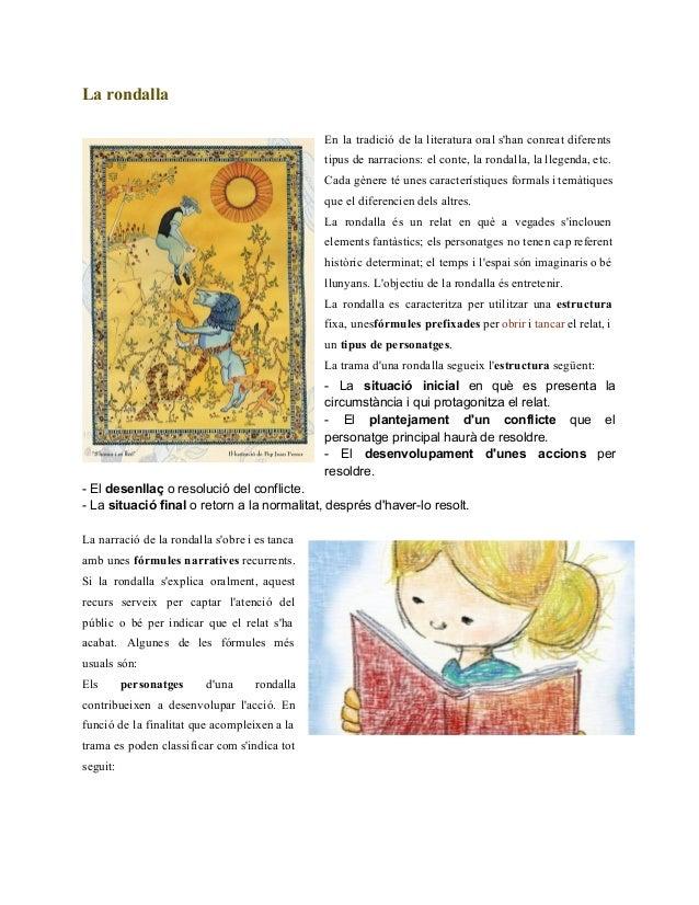 Larondalla  En la tradició de la literatura oral s'han conreat diferents          tipus de narracions: el con...