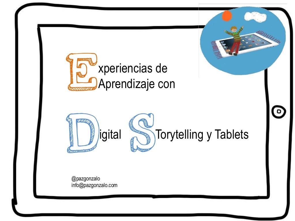 Storytelling y Tablets para el aprendizaje