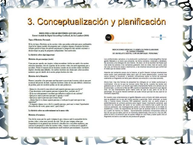 3. Conceptualización y planificación3. Conceptualización y planificación