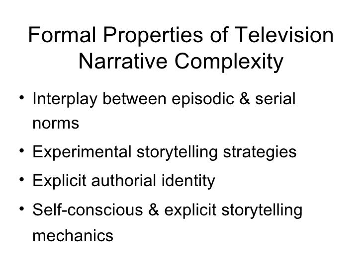 narrative complexity in american television