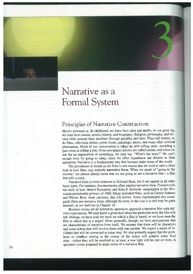Narrative - Bordwell & Thompson