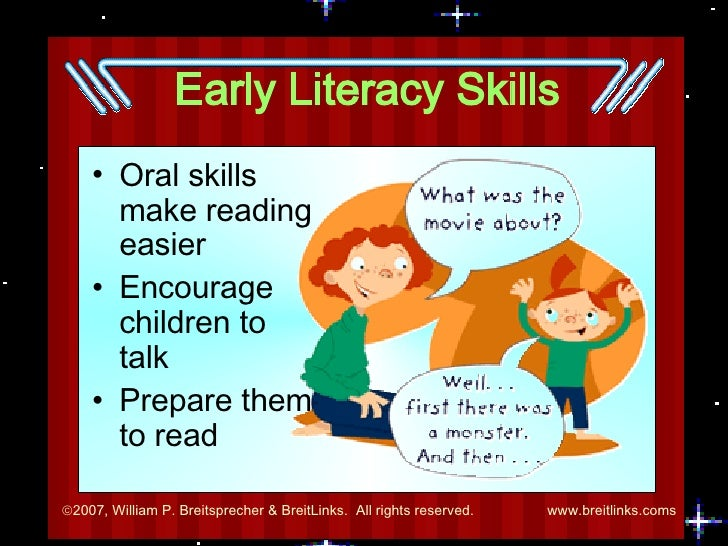 early literacy essay Literacy is more than the ability to essays related to literacy is important 1 it is equally important that parent teach their kids early in childhood how.