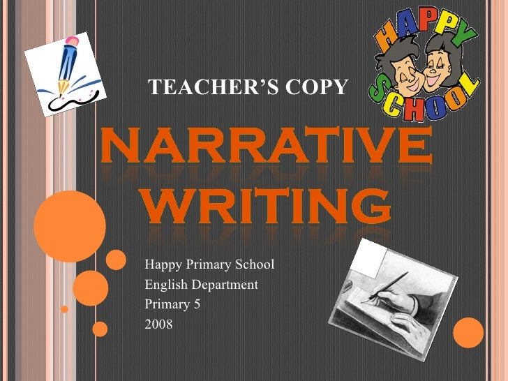 Happy Primary School English Department Primary 5 2008 TEACHER'S COPY