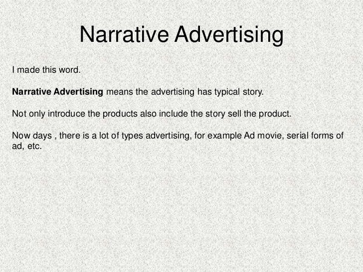 advertising a product speech example