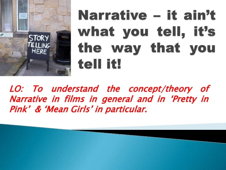 Narrative – it ain't what you tell, it's the way that you tell it!<br />LO: To understand the concept/theory of Narrative ...