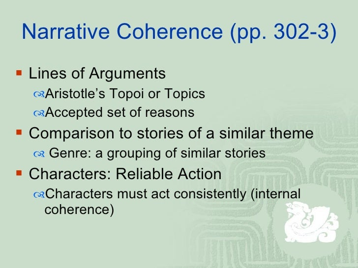 In Search of a Coherent Narrative