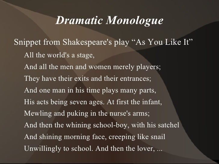 lady macbeth dramatic monologue Is lady macbeth the real killer dramatic language - they are all in your books soliloquy imagery dramatic irony rhythm and rhyme aside simile metaphor.