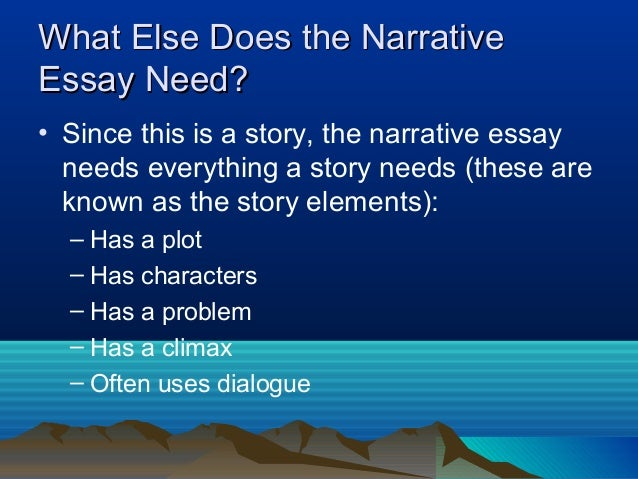 What does a essay need to have