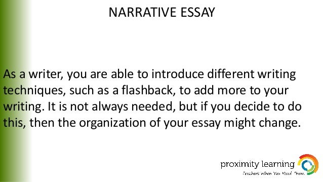 What a Narrative Essay Contains