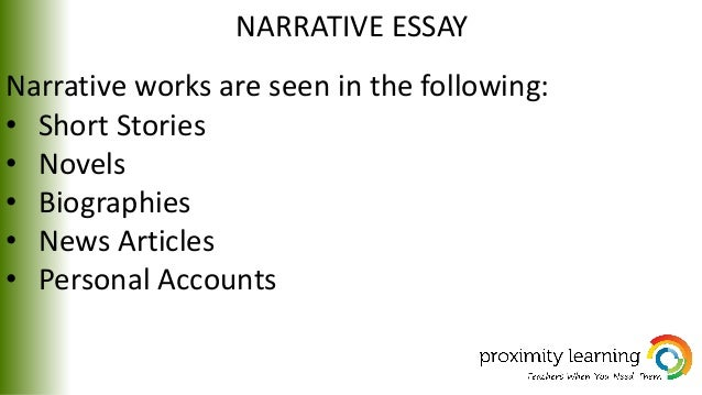 short narrative stories essays Unlike most editing & proofreading services, we edit for everything: grammar, spelling, punctuation, idea flow, sentence structure, & more get started now.