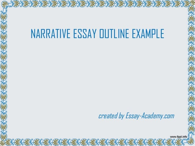Narrative essay outline examples