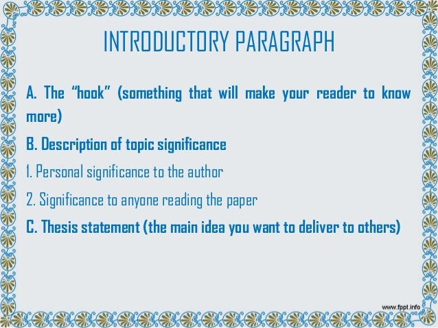 introduction paragraph of narrative essay By bhalachandra sahaj an introductory paragraph is often underestimated as a part of an essay people assume it is seemingly less important than other sections of an essay.