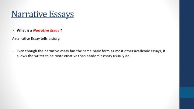 format for narrative essay