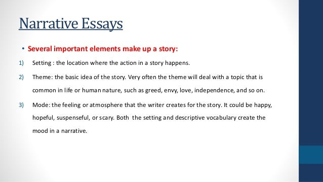 narrative essay tutorial Writing narratives + writing narratives rating: (2) (1) tutorial basics of the the following video provides a quick introduction to several narrative essay.