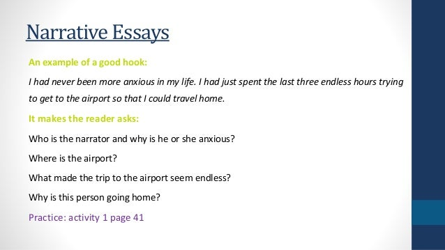 Example of good narrative essay