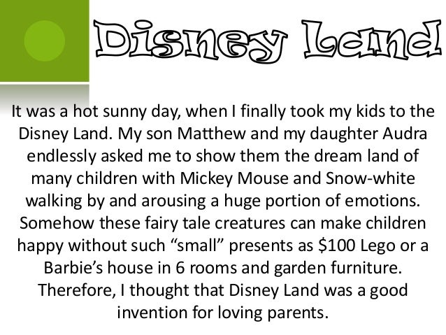a sunny day essay