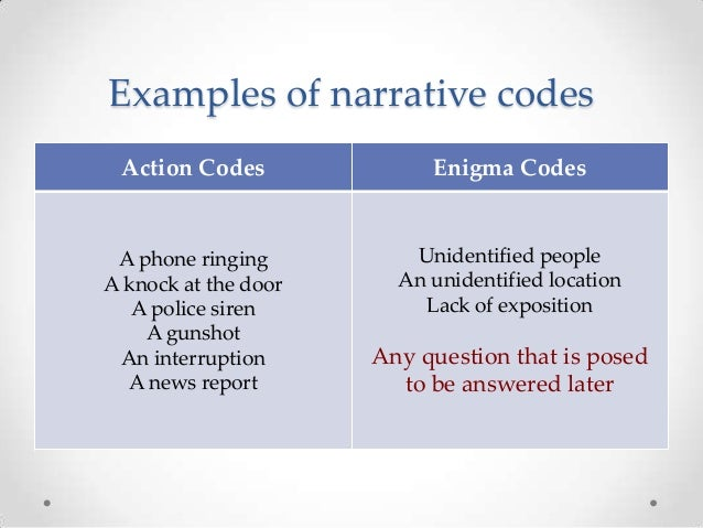 an introduction to narrative conventions ms1