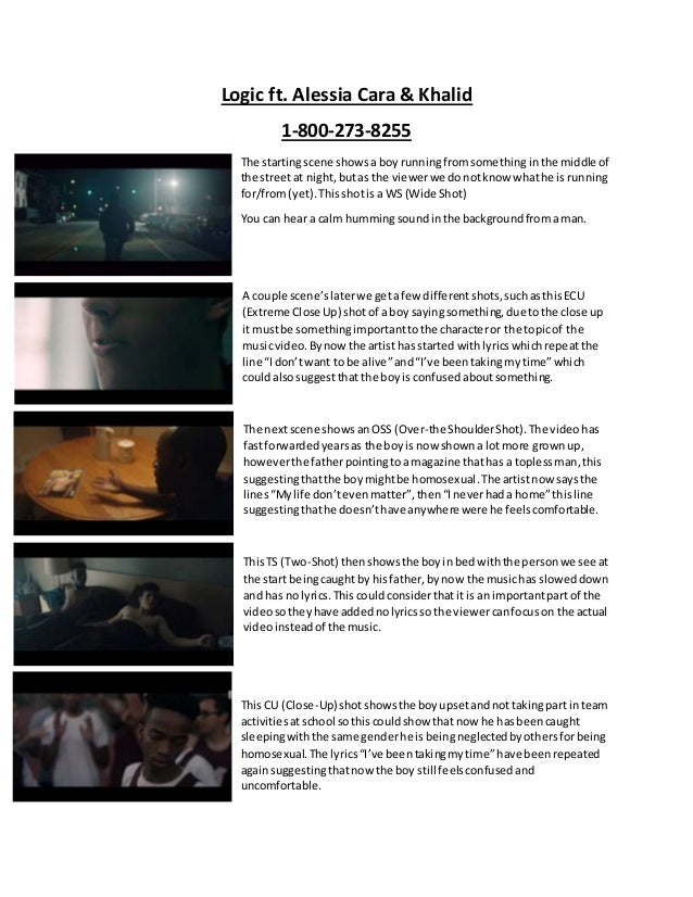 Narrative Music Video Logic 1 800 273 8255