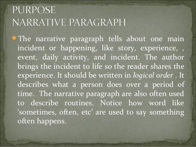 how to write a narrative paragraph