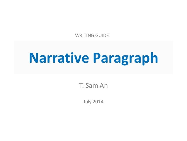 narrative paragraph definition and examples