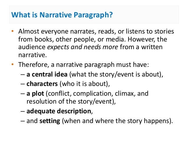 And How To Write A Narrating Paragraph will passed