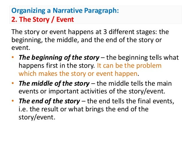 writing narrative paragraph Week 14 - narrative paragraph lesson 98 put that in writing groupings naturally with a narrative paragraph, points are arranged in chronological order the student will notice that the ideas above are reorganized into chronological.